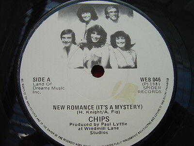 "CHIPS - RARE IRISH ONLY PRESS 7"" - NEW ROMANCE ( It's a mystery) - 1981 - Spider"