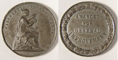 GB. Victoria. 19th century medal. For General Improvement. White Metal. VF.