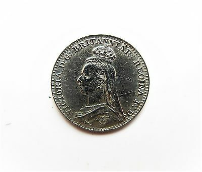 Queen Victoria Silver Penny Maundy Money 1888
