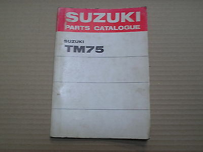 Suzuki TM 75 TM75 genuine parts catalogue 99000-93030 good lightly USED