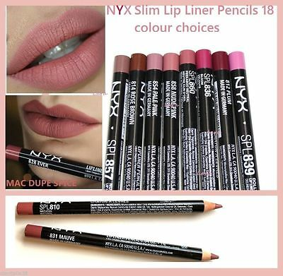 NYX Slim Lip Pencil **Choice of *38 colours*new&authentic