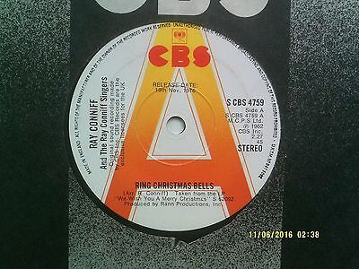 """Ray Conniff Ring Christmas Bells 7"""" Promo Single 1962/76 N/mint"""
