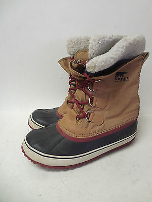 J8814L Pre Owned Women's Sorel Waterproof Brown/Red Boot 9 M