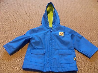 Blue Zoo Baby Boys Blue Coat With Hood Age 6 - 9 Months