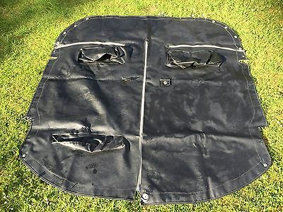 Vintage Classic 2 Seater Sports Car Tonneau Cover Complete With Headrest Pockets