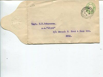 Great Britain ½d private stationery cover, 1913