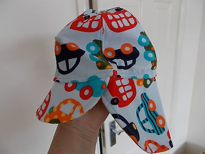 BNWT NEXT BABY BOYS CAR PATTERN SUN HAT - age 3-6 MONTHS - rrp £5