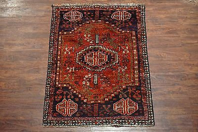 Persian 3X5 Shiraz Antique Tribal Area Rug Hand-Knotted Wool Oriental Carpet