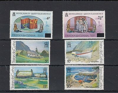 Tristan Da Cunha. 6 -- 1978 Unmounted S/jubilee Mint Paintings On Stockcard