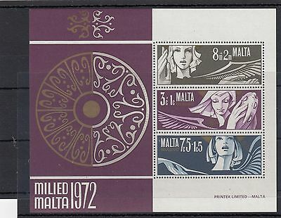Malta. 1972 -- Unmounted Mint Min Seet On Stockcard.