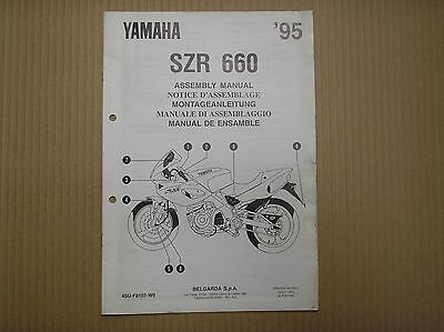 Yamaha SZR 660 SZR660 ASSEMBLY manual 4SU-F8107-W0