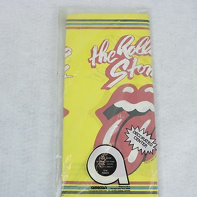 The Rolling Stones VTG 1983 Party Paper Table Cover NOS Still in Package