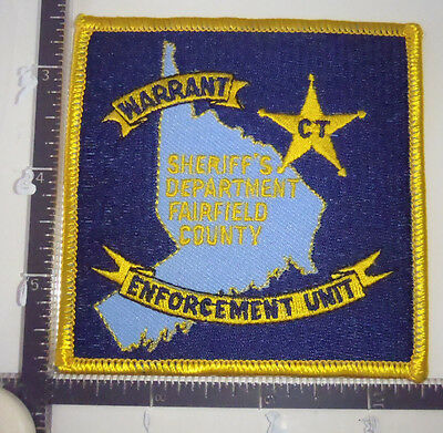 Fairfield Co. SHERIFF CT Warrant Enforcement Unit Police Patch CONNECTICUT