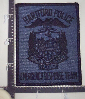 Hartford ERT CT Police Patch CONNECTICUT Emergency Response Team SWAT Sm.