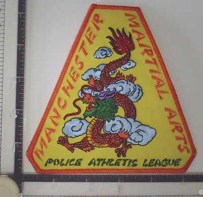 Manchester PAL CT Police Patch CONNECTICUT Martial Arts Athletic League DRAGON