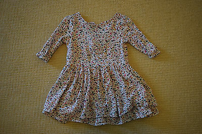 Toddler Girl 3/4sleeve dress in floral print size 4t