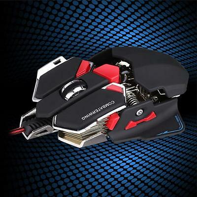 4800DPI Optical USB Wired Gaming Mouse Mice For Windows Mac OS PC Gamer Black