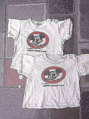 (2) 1960s Walt Disney Mouseketeers ShirTEES-Infant Mickey Mouse Club