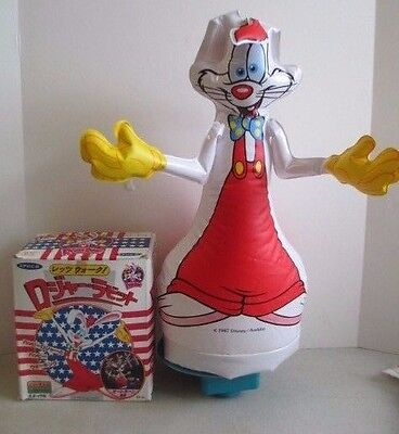 Mib 1987 Epoch Who Framed Roger Rabbit Inflatable Motorized Moving Toy Japanese
