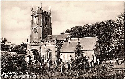 Avebury Church, old postcard (image c.1899), unposted