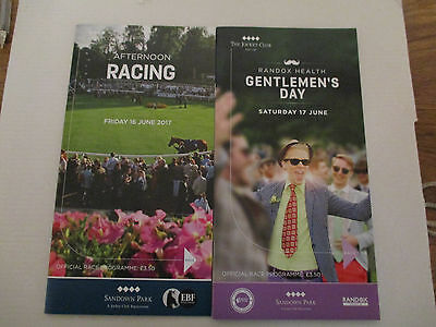 SANDOWN PARK 16th - 17th JUNE 2017 RACE CARDS (MINT)