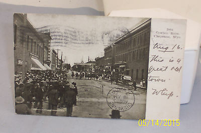 1906 RPPC Real Photo Post Card Cowboy Race Cheyenne, Wyoming