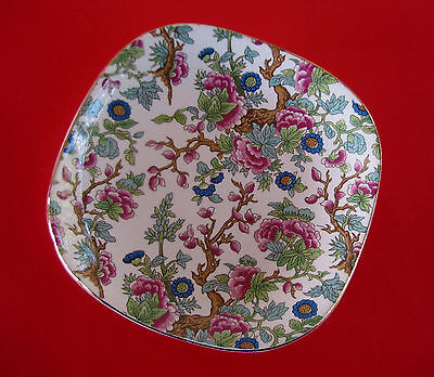 Vintage All Over Floral Chintz Dish Small Plate - Indian Tree - Made in England