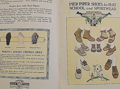 Vtg 1927 Pied Piper Shoes Advertising Booklet Van Lenten Store Ridgewood NJ