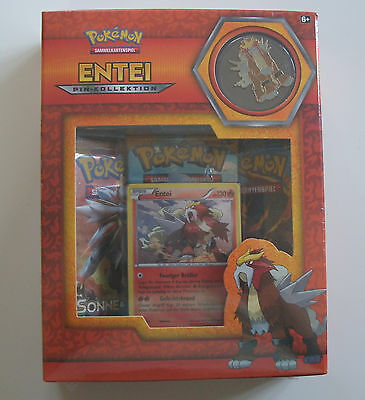 Pokemon Box  - Entei Pin-Kollektion  - NEU & OVP