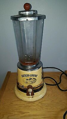 (VTG) Southern Comfort whiskey blender  Steamboat black Americana bar rare