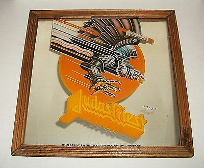 Vintage 1982 Carnival Prize JUDAS PRIEST Screaming For Vengeance Wall Mirror