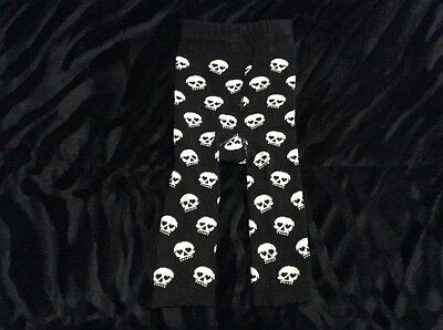 Sourpuss Skull Baby Leggings Black/White alternative rock metal baby clothes 0-6