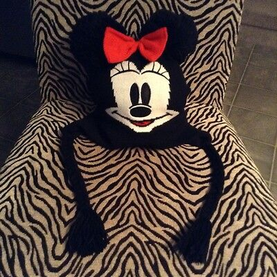 Minnie Mouse Toque Hat red bow Disney