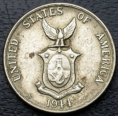 1944-S Philippines 5 Centavos KM# 180a - Nice Original Detail