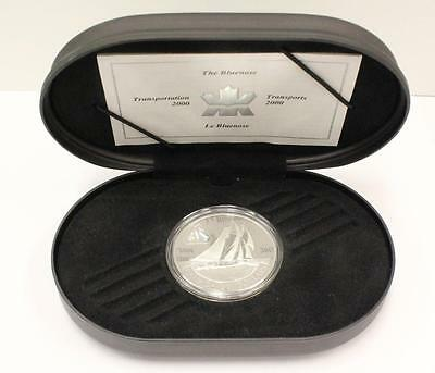 2000 Canada Silver 20 Dollar Coin Transportation Series The Bluenose Hologram