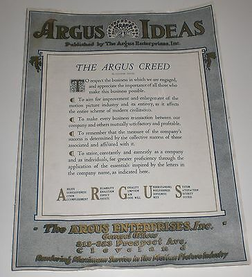 Argus Movie Theater Mazda Lamp Projector V1 N1 1920 Vintage Camera Cleveland OH