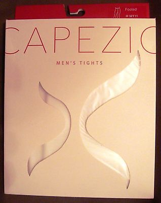 Capezio Men's White Footed Tights - Large
