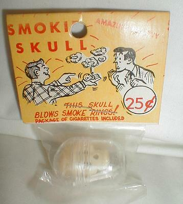 Sealed Smoking Skull Vintage Excellent Blows Smoke Rings Cigarettes
