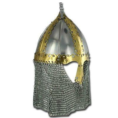 Medieval Russian Boyar Battle Helmet With ChainMill Strips H-4020-BL2