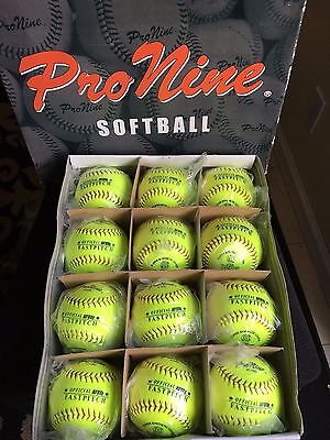 12 New Pro Nine Sports College High School Fast Pitch 47 12SC 12 inch Softballs