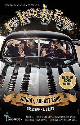 LOS LONELY BOYS 2015 VENTURA CONCERT TOUR POSTER - Chicano / Blues Rock, Tex-Mex