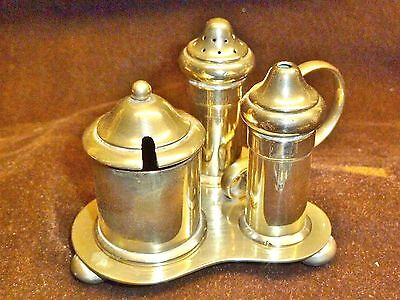 lovely cruet set arthur price early 1900s silver plated with glass liners dining