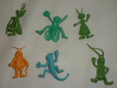 Lot Of 6 Rubber Insects Vintage