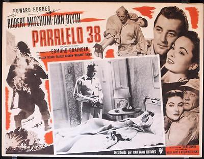 L069 ONE MINUTE TO ZERO  Mexican Lobby Card R56 Robert Mitchum,  Howard Hughes