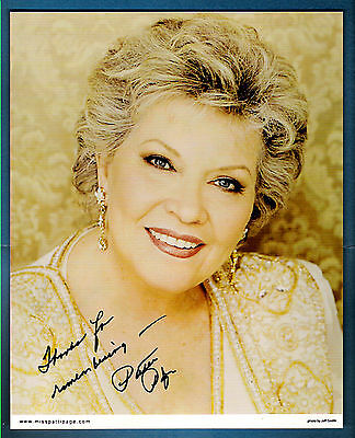 sig - Patti Page (deceased) Autograph - Signed 8x10 photo - Singer