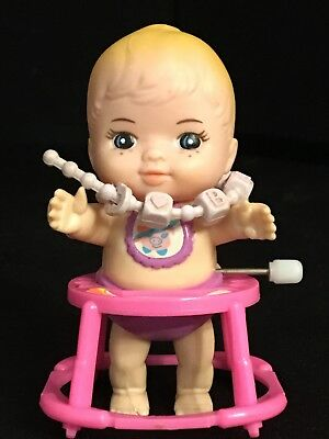 New-Ray Vintage Wind-Up Baby Doll in Walker Toy