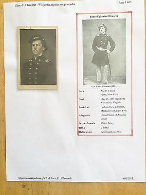 Civil War CDV, Ellssworth Group, Zouaves, Sheet Music