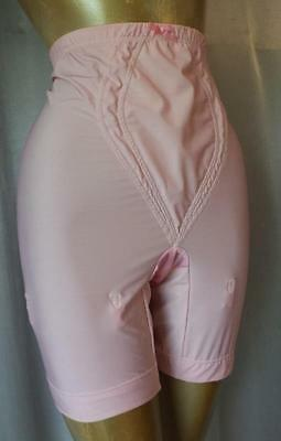 SLIMMING PASTEL PINK Vintage 1970s LONG LEG GIRDLE SHAPER PANTIES -sz XL