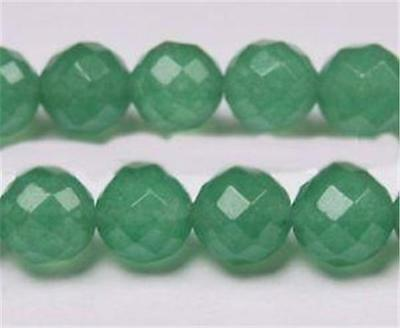 """6mm Natural Emerald Faceted Loose Beads Gemstone 15"""""""