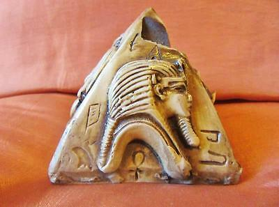 Amazing Antique Solid Hand Carved of Ancient Egyptian Pyramid...EGYPT